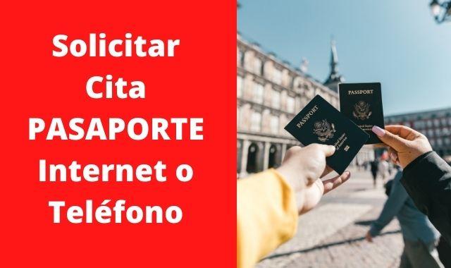 Solicitar cita pasaporte